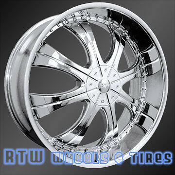 26 in Chrome Wheel Rim Set Fits Cadillac Hummer Lincoln