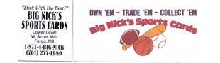 Big Nicks Sports Cards