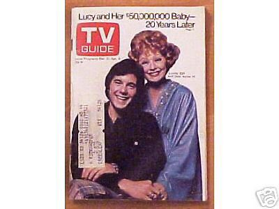 Love Lucy LUCILLE BALL/Desi Jr TV GUIDE  March, 1973
