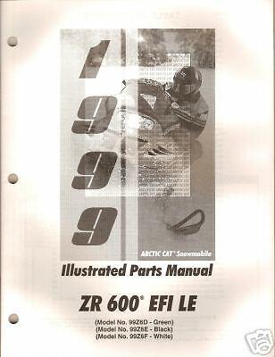 manuals arctic cat zr trainers4me 1999 arctic cat zr 600 efi le parts manual