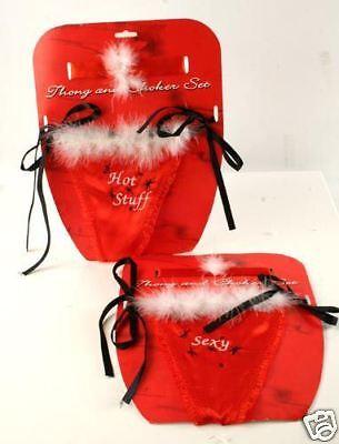 Sexy String u. Halsband Weihnachtsfrau mit Aufdruck