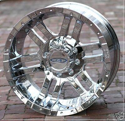 18 inch Chrome Moto Metal 951 Wheels Rims Chevy GMC HD Dodge 8 Lug Trucks 8x6 5