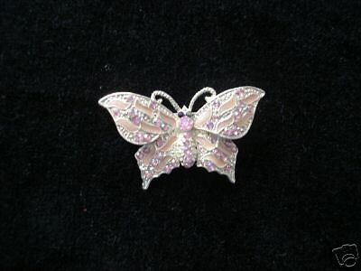 RHINESTONE BUTTERFLY BROOCH, COSTUME FASHION JEWELRY