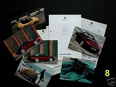 PORSCHE Pressemappe 1998 * 911 Cabriolet  * 6 Fotos